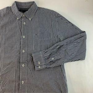 Tommy Hilfiger L/S Plaid Button Dress Shirt L
